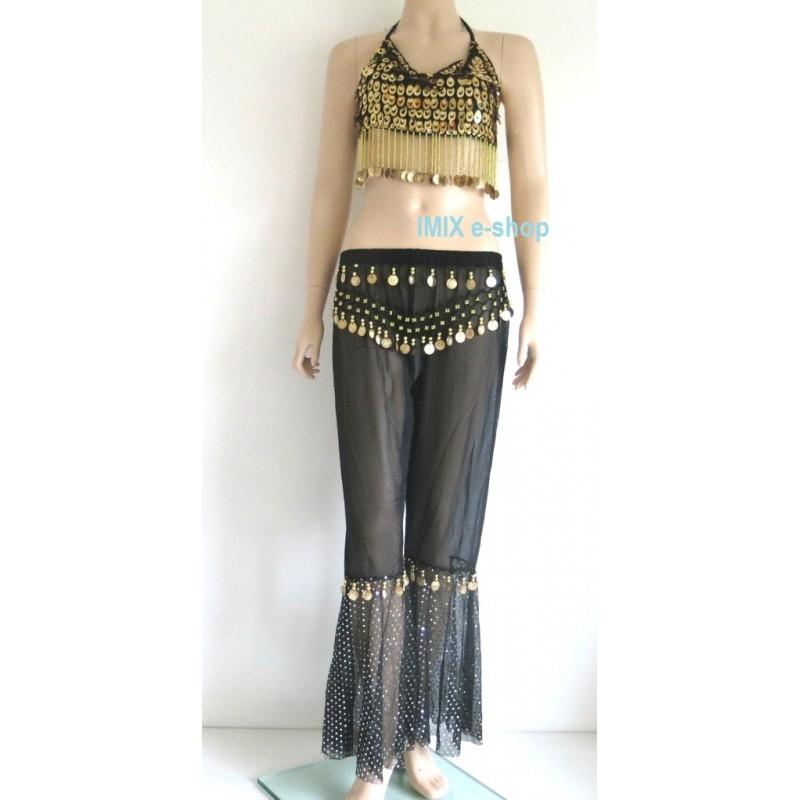 Doprodej - Taneční kostým kalhoty se zdobeným topem