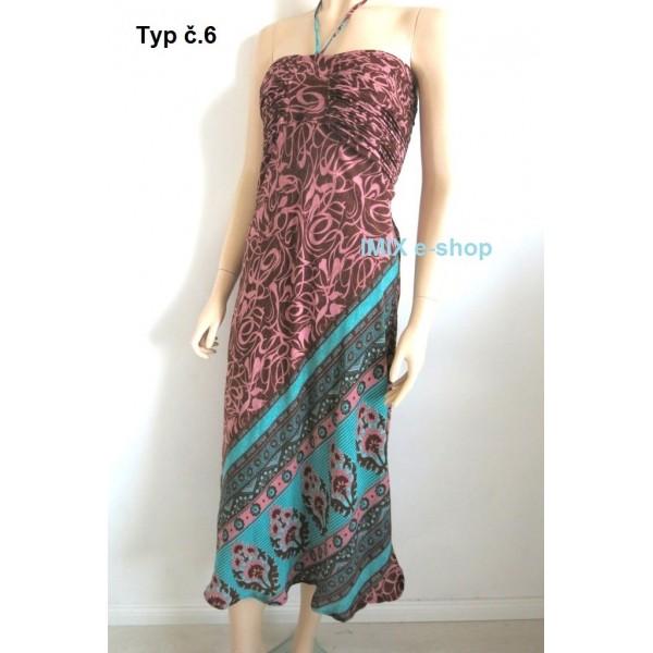 Multifunkční hedvábné letní šaty / sukně
