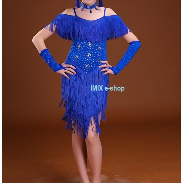 Dívčí taneční LATINO šaty JASICA - 5 dílů