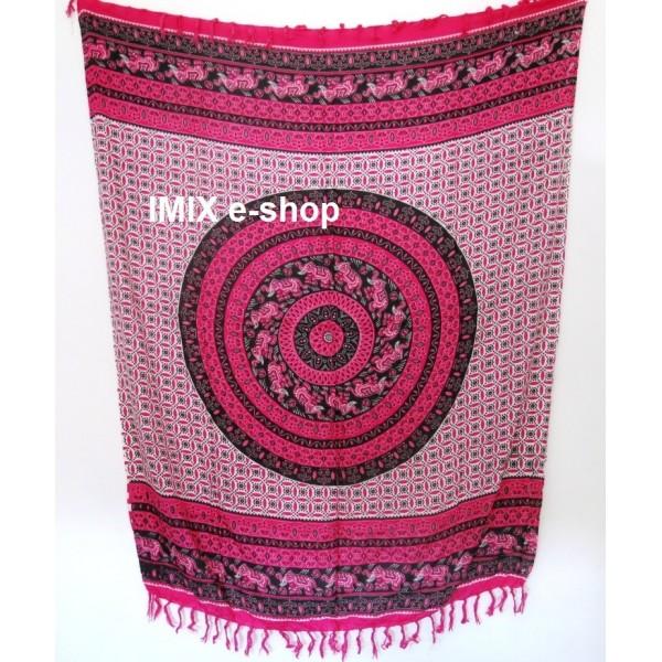 MANDALA sarong růžový