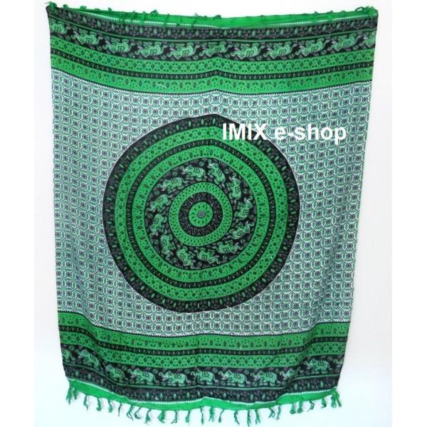 MANDALA sarong zelený