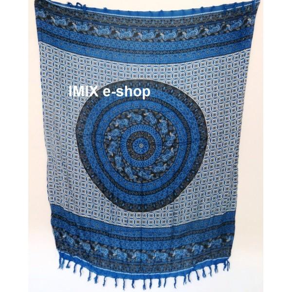 MANDALA sarong modrý