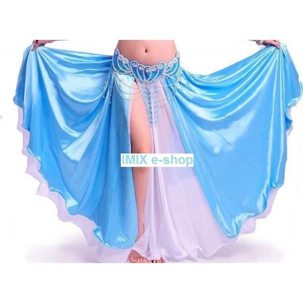 Dvojitá saténovo-šifónová sukně MISHEL