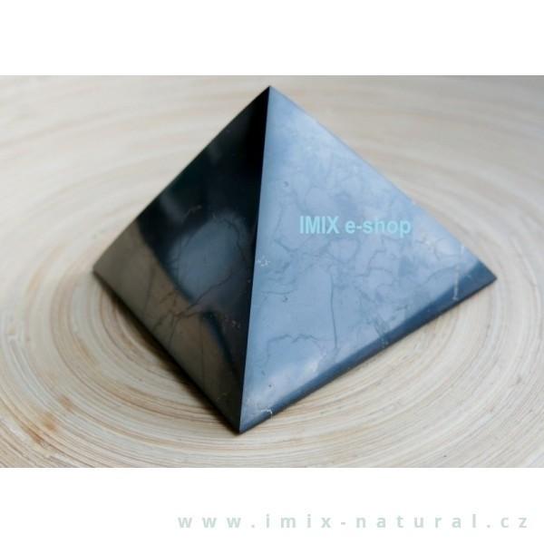 Šungitová pyramida 7x7 cm Karélie
