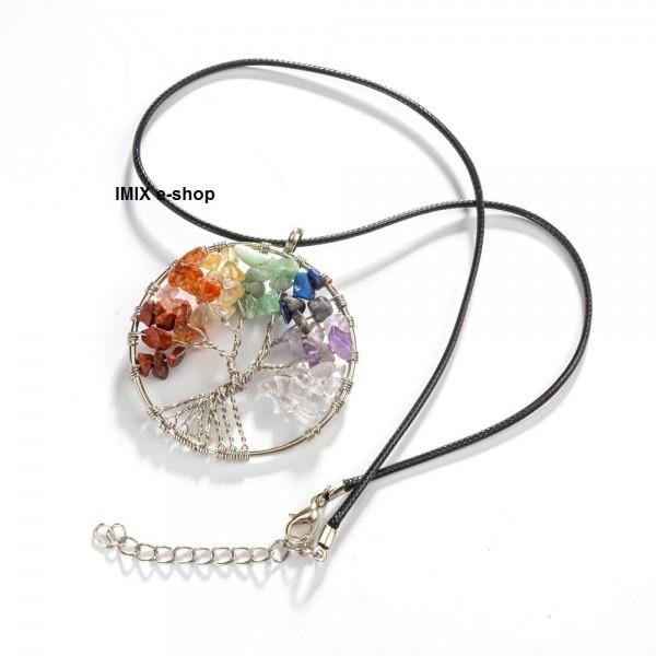 Čakrový náhrdelník - řetízek a Strom života rozvětvený
