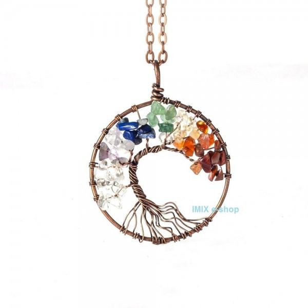 Čakrový náhrdelník - Strom života Bonsai