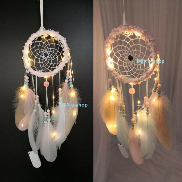 Lapač snů s LED osvětlením