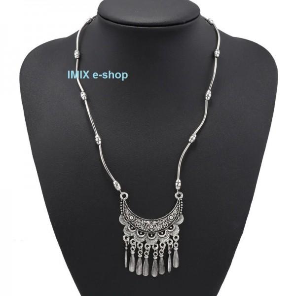 Elegantní Vintage Tribal dlouhý náhrdelník