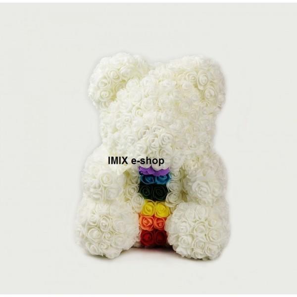 Plyšový medvídek s čakrou velký - bílý