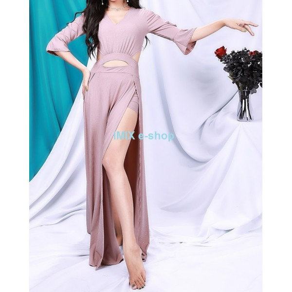 Taneční třpytivé dlouhé šaty Safira