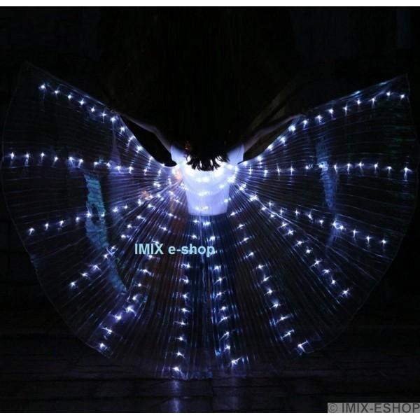 AKCE -  LED křídla ISIS 3 režimy svícení - BÍLÉ