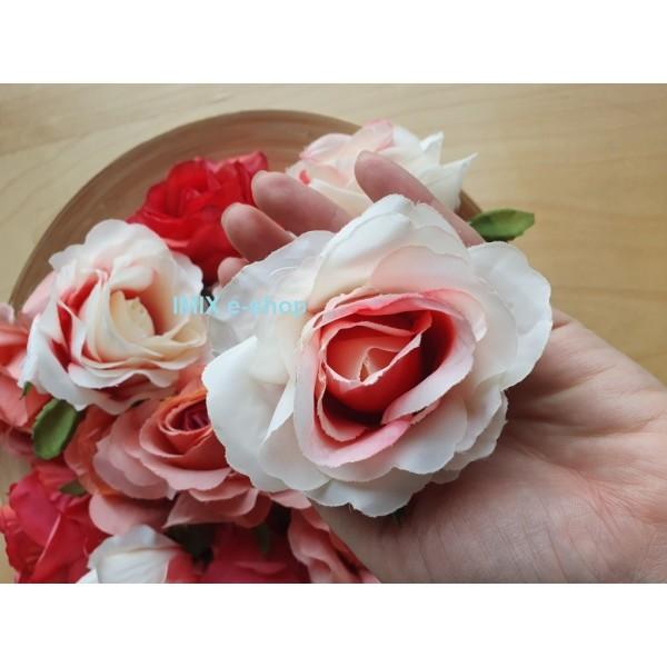 Růže umělá látková květina