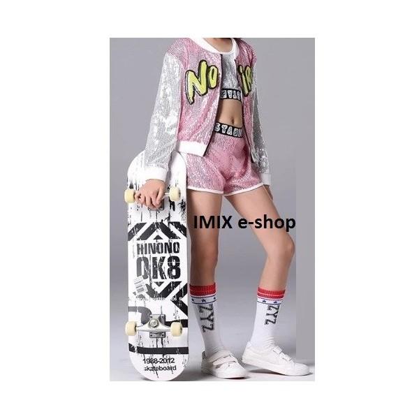 Dívčí moderní taneční kostým HIP HOP růžový