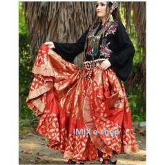 Orientální luxusní sukně se zlatým motivem