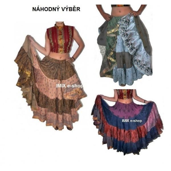 Bavlněná sukně Gypsy Tribal Patchwork široká ILLIA