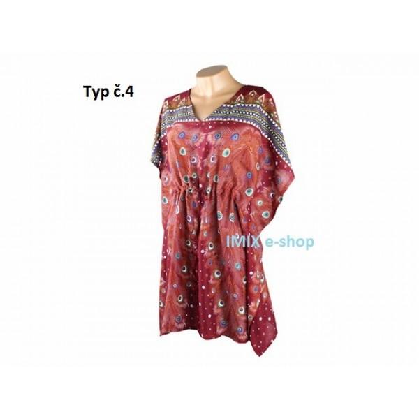 Krátký orientální Kaftan - šaty, VÍCE BAREV