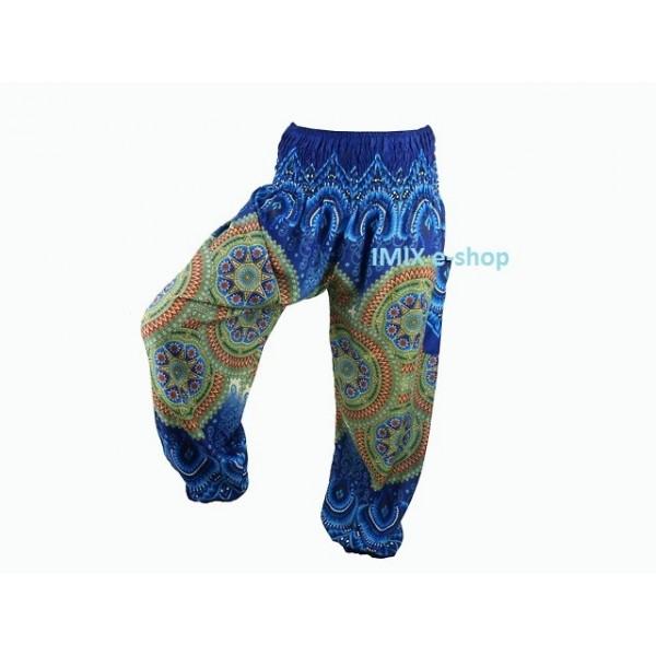 Orientální Sultánské kalhoty s mandalou -VÍCE BAREV