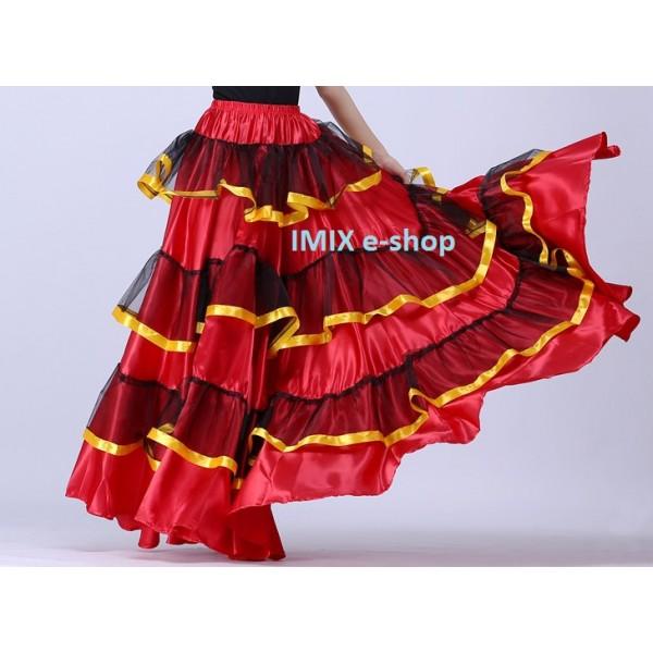 Flamenco saténová sukně Celeste