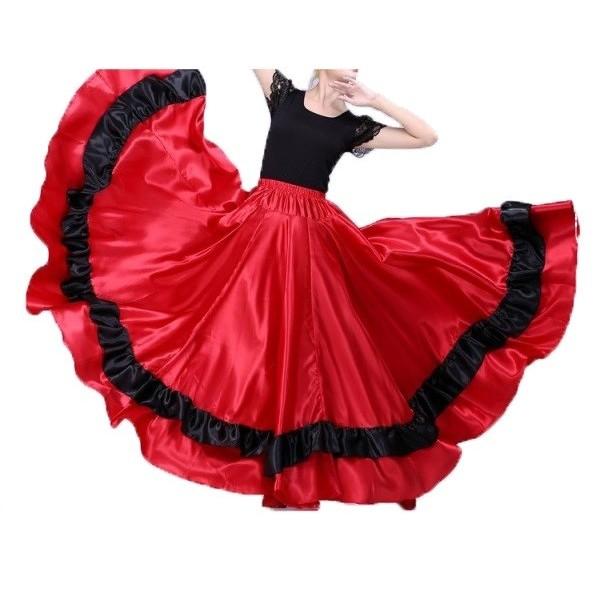 Flamenco saténová sukně Estela