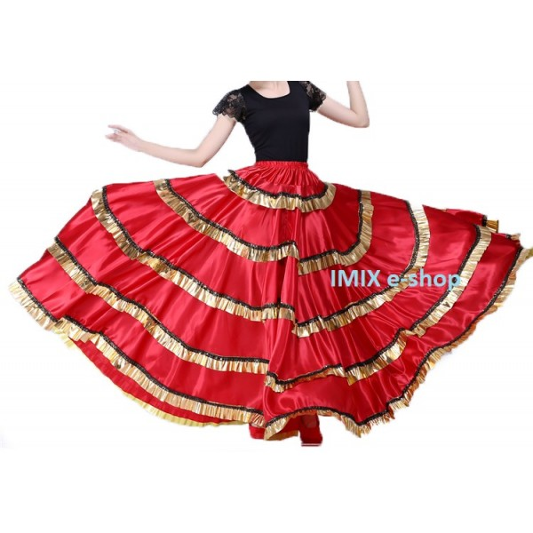 Flamenco saténová sukně Marcia
