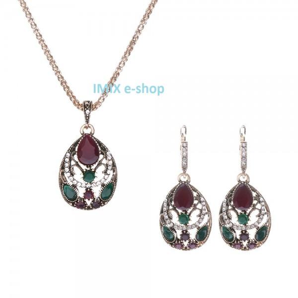 Bollywood náhrdelníkový set Asira