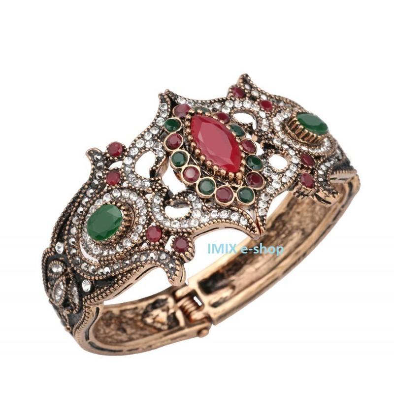 Luxusní orientální náramek zdobený ASIRA