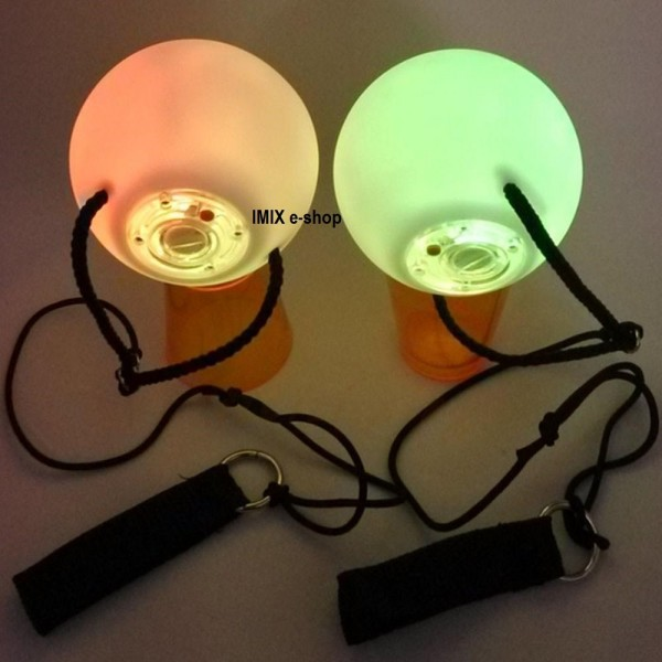 LED Poi Voi koule + baterie ZDARMA!