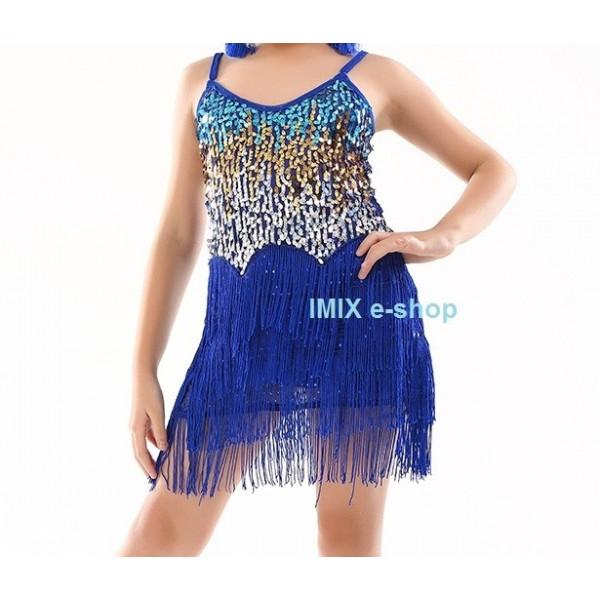 Dívčí třásňové šaty s flitry Belinda