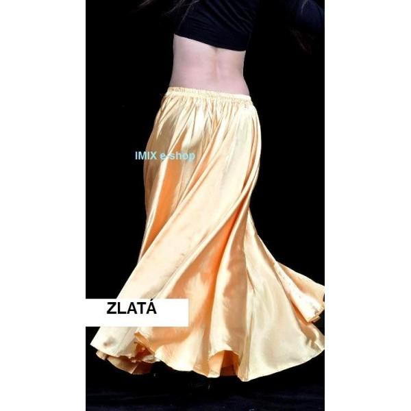 Saténová sukně HASSIBA jednobarevná