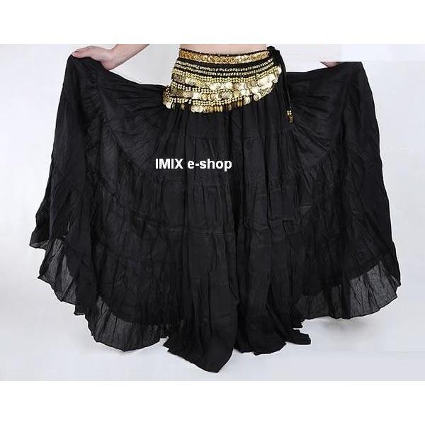 Orientální lněná TRIBAL sukně JASIR
