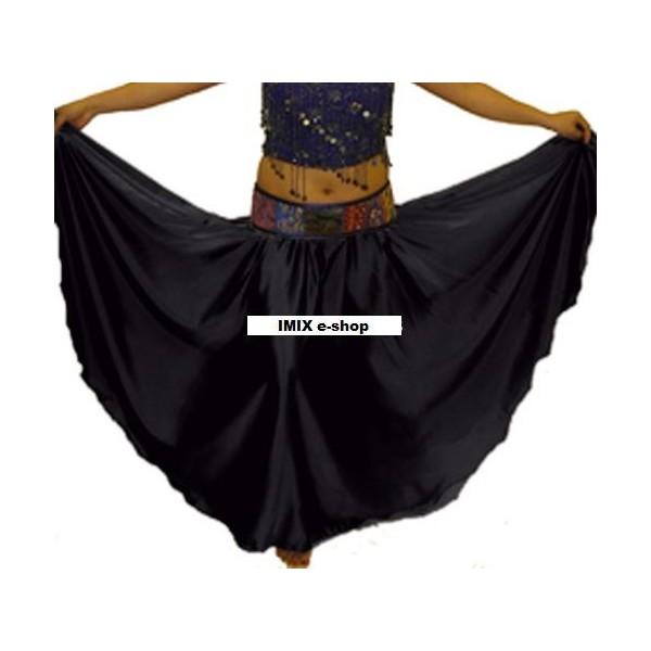 Půlkolová saténová sukně GHADAH na míru