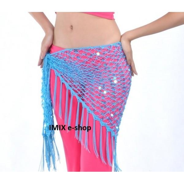 Síťový šátek s flitry ALI